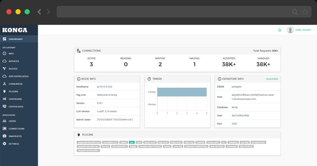 Konga - More than just another GUI to Kong Admin API